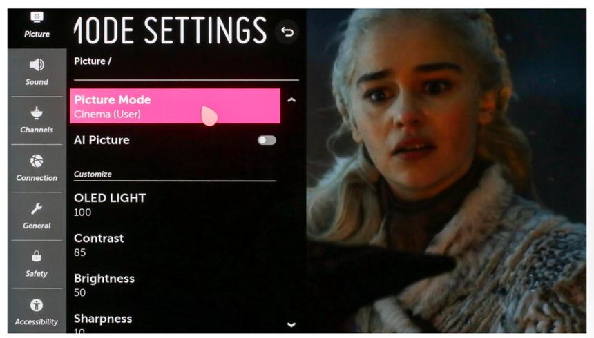 """Có nên sử dụng chế độ hình ảnh """"Tiêu chuẩn"""" (factory settings) của TV hay không?"""