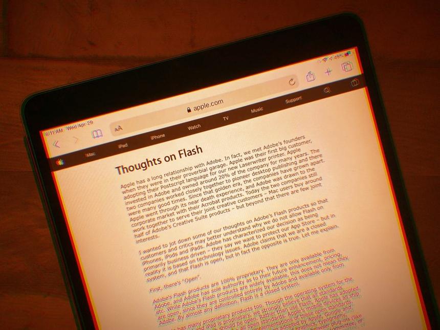 Steve Jobs da dung ve Adobe Flash anh 2