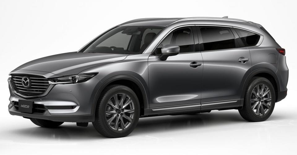 Mazda CX-8 2019 ra mat tai Nhat Ban, them dong co tang ap hinh anh 1