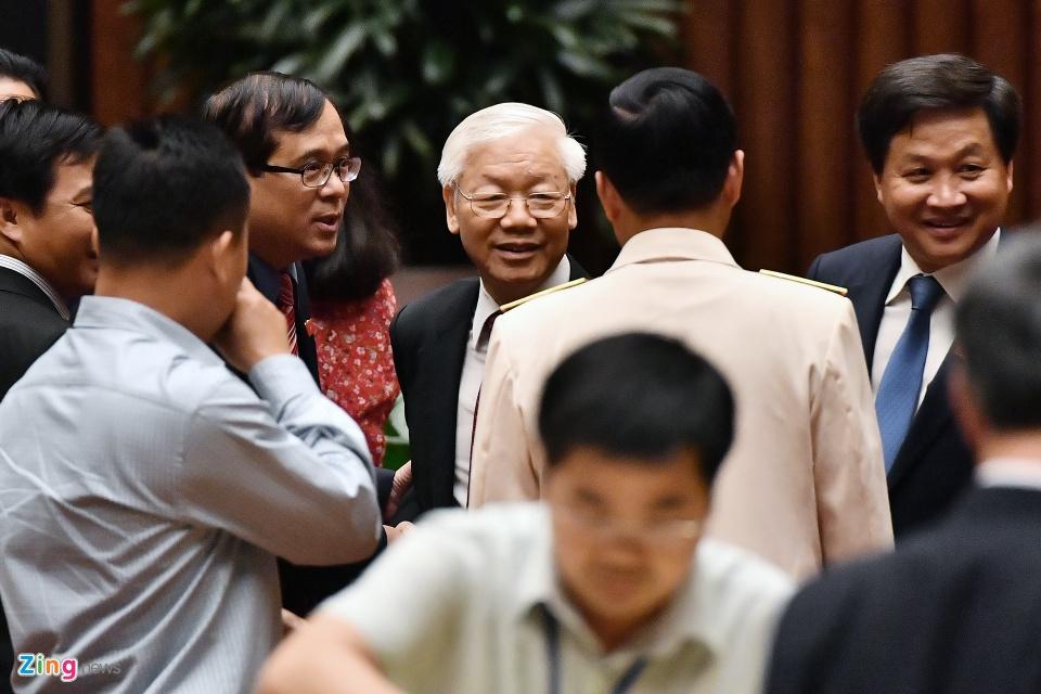 Tong bi thu Nguyen Phu Trong trong ngay dac cu Chu tich nuoc hinh anh 10