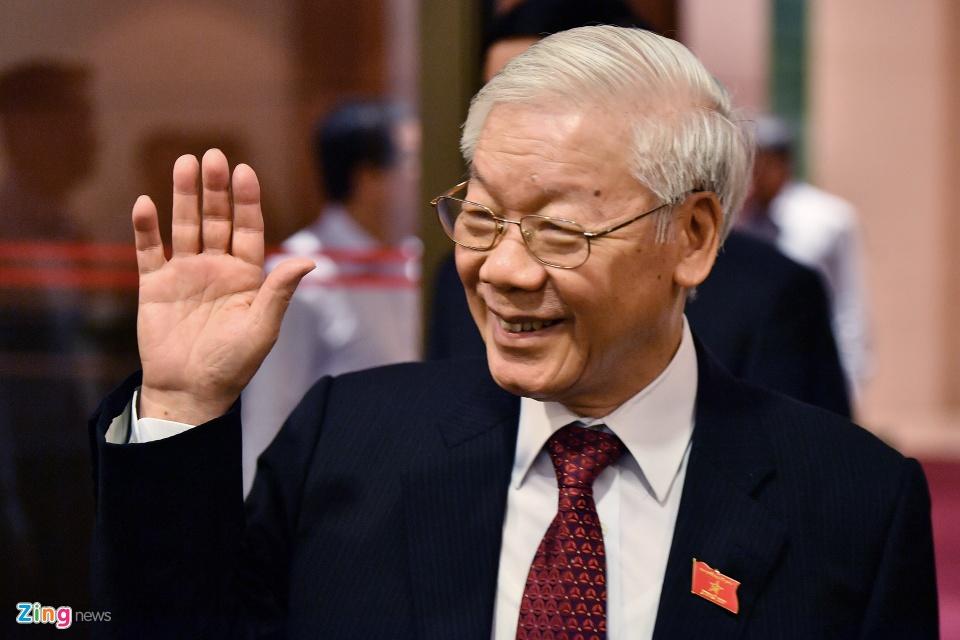 Tong bi thu Nguyen Phu Trong trong ngay dac cu Chu tich nuoc hinh anh 12