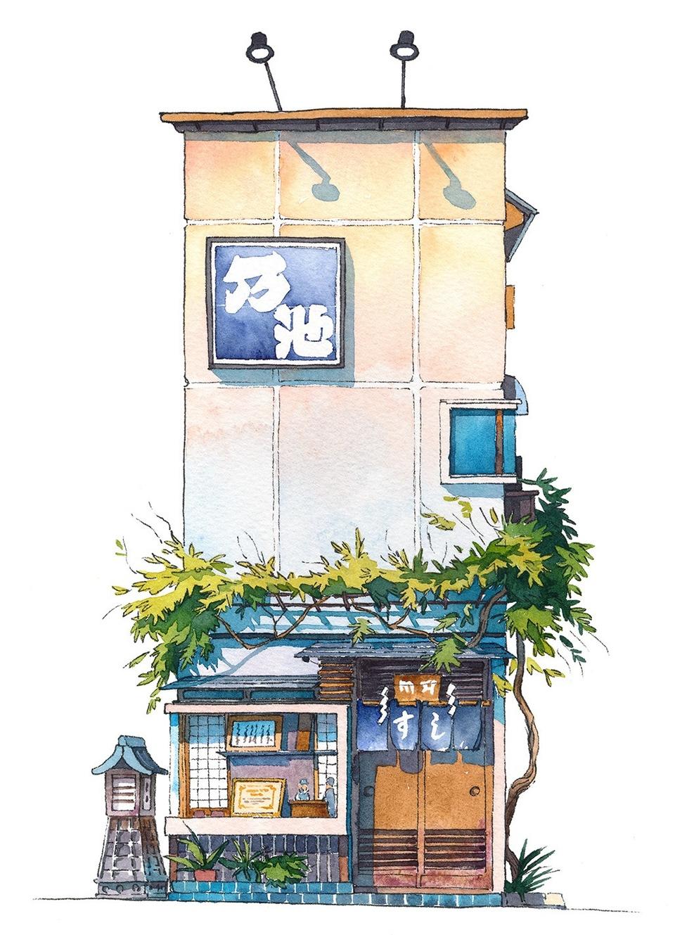 Tokyo dep gian di duoi nhung cua hang duoc phac hoa tren giay hinh anh 10