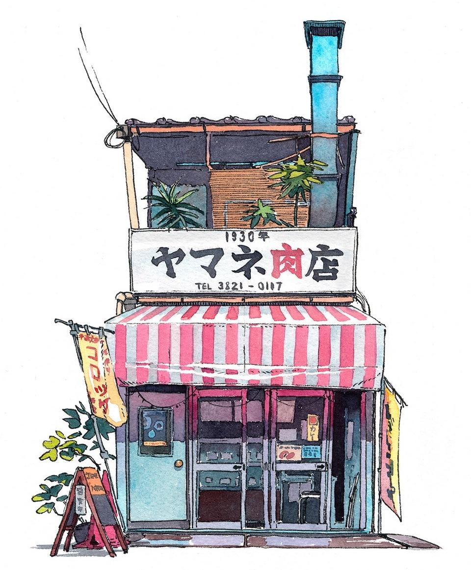 Tokyo dep gian di duoi nhung cua hang duoc phac hoa tren giay hinh anh 1