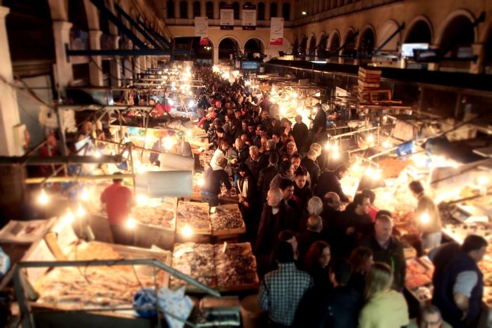 Chợ Varvakios Agora (Athens, Hy Lạp)