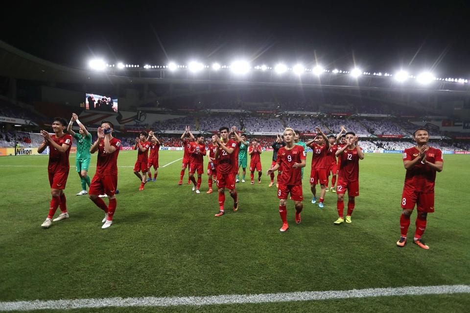 Tuyen Viet Nam lan dau no nu cuoi chien thang tai Asian Cup 2019 hinh anh 1