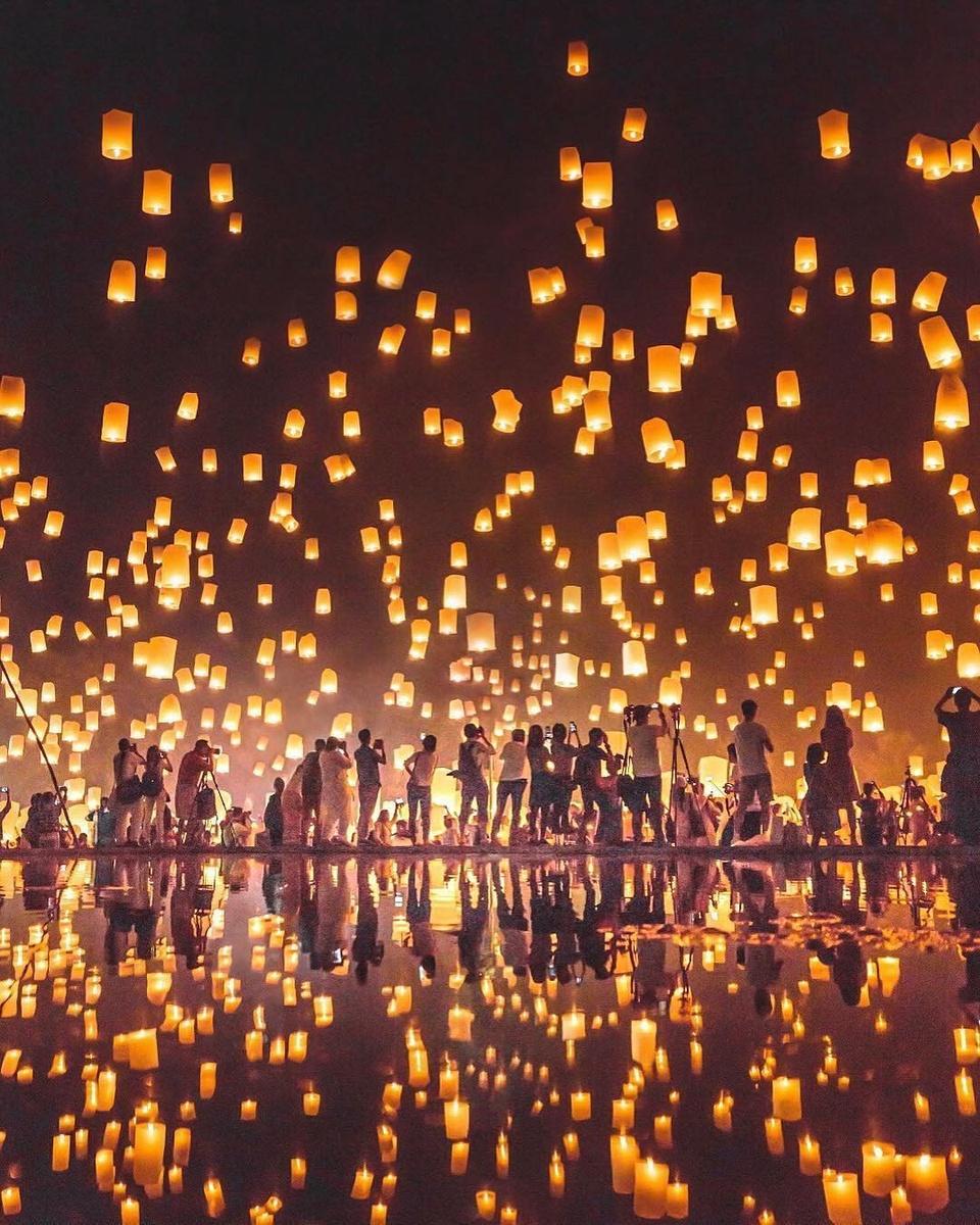 Troi dem Chiang Mai huyen ao trong le hoi den troi Yee Peng hinh anh 10
