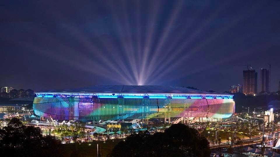 Sân Bukit Jalil được hoàn thiện vào năm 1996, chủ yếu tổ chức các môn thể thao Olympic như điền kinh và các môn ngoài trời. Địa điểm này cũng từng là nơi diễn ra Đại hội thể thao khối Thịnh vượng chung năm 1998 và là sân vận động chính tổ chức SEA Games 21, diễn ra năm 2001 của chủ nhà Malaysia. Ảnh:Getty Images.