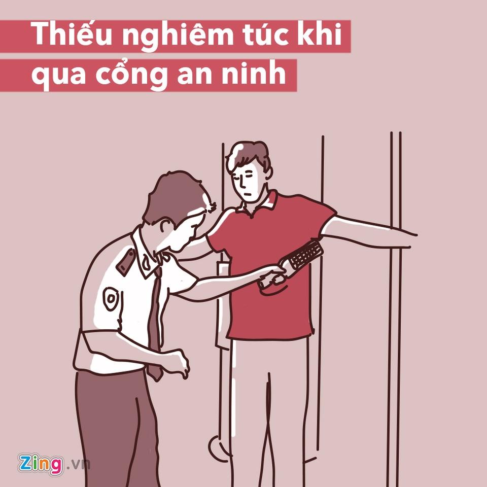 Dung lam 7 dieu sau neu khong muon gap rac roi o san bay hinh anh 2