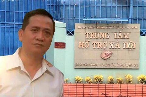 Can bo Trung tam Ho tro xa hoi doi thuoc la de dam o 3 be gai hinh anh